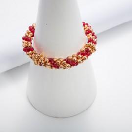 Bracciale con agate color rubino