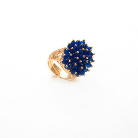 ANELLO STYLISH CON AGATE BLU